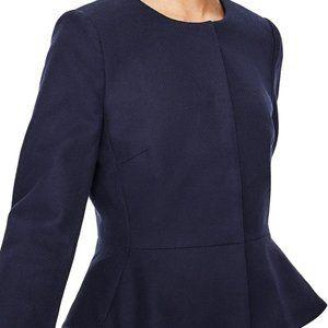 NEW Boden Size 12 Polperro Peplum Hem Jacket Blue